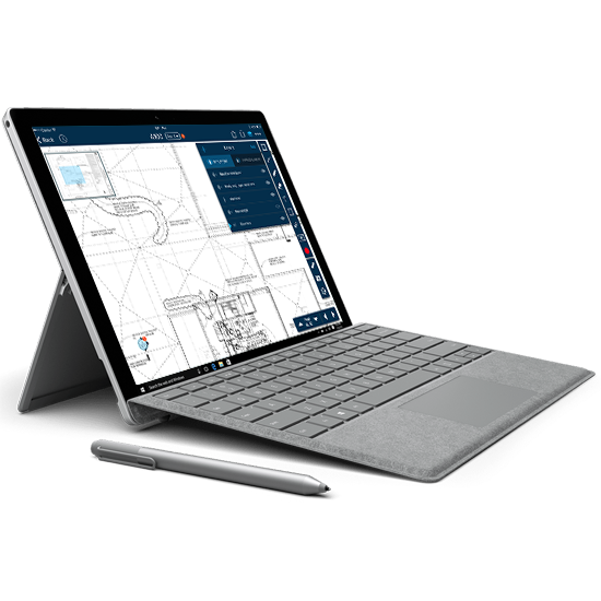 SmartUse on Microsoft Surface Picture